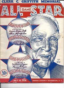 1956 All Star Game Program @ Washington 4 Hall of Famers Homer NL Wins!!