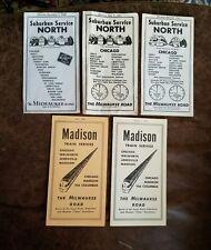 Vintage Lot The Milwaukee Road Railroad Hiawathas Domeliners Timetables 1948-70