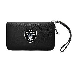 NFL Oakland Raiders Zip Organizer Wallet Pebble *New*