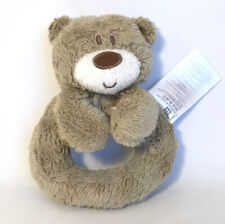 Mothercare Teddy Bear Comforter Soother Brown Plush Soft Toy Rattle