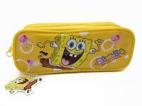 Spongebob Squarepants Yellow Pencil Pouch Zippered Pencil Case Authentic Bag