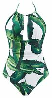 Womens One Piece Swimsuits Tummy Control Swimwear Backless V Neck Suit Type19 L
