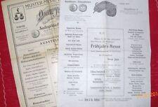 alte Reklame bzw.Werbung von Oscar Jope - 2 Original Blätter von 1920-1921  /S23