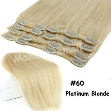 """Clip in Remy Human Hair Extensions Full Head Highlight 16""""18""""20""""22"""" US Shipping"""