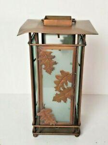 Hobby Lobby Bronze Tealight Lantern Fall Leaves