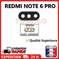 Vitre arrière caméra XIAOMI REDMI NOTE 6 PRO Lentille appareil photo Lens verre