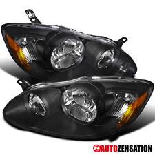 For 03-08 Toyota Corolla CE LE 4Door Sedan JDM Crystal Black Headlights