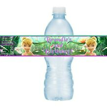 12 Tinkerbell Fairy Birthday Party or Baby Shower Water Bottle Stickers Fairies