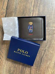 Ralph Lauren Polo Bear Brown Leather Wallet