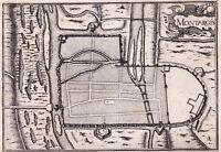 Gravure XVIIe Montargis Loiret Christophe Tassin 1634