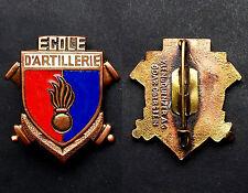 Insigne Ecole d'Artillerie. Émaux. Klein & Quenzer