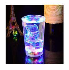 NEUF 1 x EAU activé CLIGNOTANTE Gobelets en verre del CLIGNOTANT 340 ml