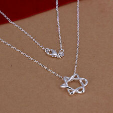 Stunning 925 Sterling Silver Star of David Necklace