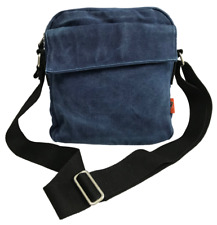 Canvas Casual Shoulder Bag Messenger Bag for Men and Women - Navy Blue