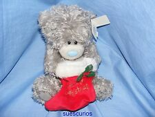 Me To You Christmas Tatty Teddy Blue Nose Bear With Stocking M9 Gift G01W1218