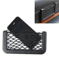 Auto Car Body Edge ABS Black Elastic Net Storage Phone Holder Accessories