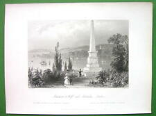 CANADA Wolfe's Monument & Palmer Dry Goods New Orleans 1853 Antique Print & AD