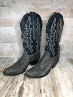 Lucchese Kemosabe Classic Western Women Boots Ostrich Leg Goat Upper Handmade 7