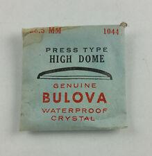 VINTAGE BULOVA PRESS TYPE HIGH DOME WATCH CRYSTAL - 28.5mm - PART# 1044