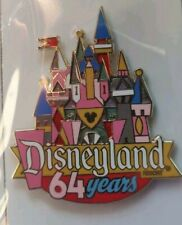 Disneyland 64 Years Anniversary Disney Cast Member Exclusive CASTLE Pin LE 500