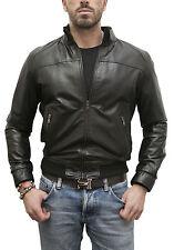 Jacke aus Haut Mann Männer Leder Jacke Kleidung Homme Cuir SM02P