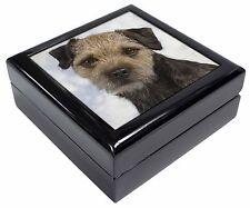 Border Terrier Dog Keepsake/Jewellery Box Christmas Gift, AD-BT3JB