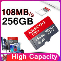 64GB 128GB 256GB Micro Memory Card 108MB/S 4K Class10 Flash TF Card with Adapter