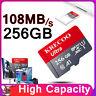 64GB 128GB 256GB Micro Memory Card 108MB/S 4K Class10 Flash TF Card with Adapter