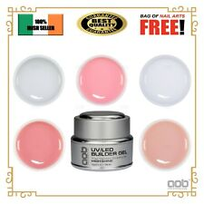 AOB Builder Gels UV / LED - Clear White Pink Nude Cover - 15g EU