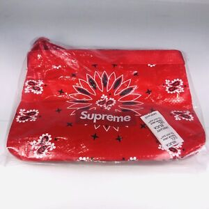 Supreme Bandana Tarp Red, White And Black Side Bag One Size SS21