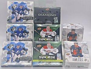 NHL Hockey Sealed 8 HOBBY BOXES 2020-21 UD BLACK DIAMOND SPx SYNERGY ALLURE