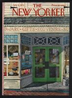 New Yorker magazine COVER ONLY  July 8 1974-Hubbell art-General store mom & pop