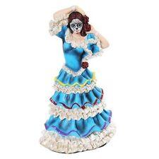 Dod Day Of The Dead - Blue Carnival Dancer Figurine - New Los Dias De Muertos