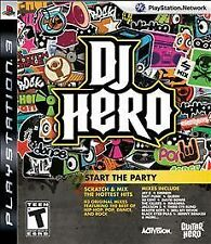 DJ Hero (Sony PlayStation 3, 2009) EXCELLENT CONDITION SHIPS NEXT DAY WITH TRACK