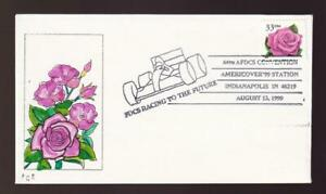 USA FDC 1999 sc#3052 Rose, hand-colored Frank Ellis cachet 13/20, AFDCS cancel