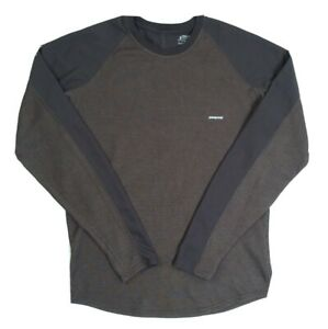 Patagonia Capilene Basic Essential Brown Fitted Athletic L/S T-Shirt Sz Small