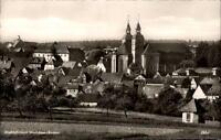 Walldürn Odenwald Baden s/w AK ~1950/60 Teilansicht mit Wallfahrtskirche Kirche