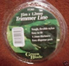STRIMMER WIRE 15 METRES 1.65 MM NEW GARDEN FOR  ELECTRIC MOWERS