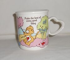 Vintage 1985 AG Care Bear Cousins Coffee Cup Loyal Dog & Playful Monkey