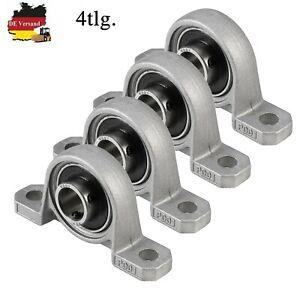 Profi 4 Stück Gehäuselager/Stehlager/Stehlagereinheit 12mm Wellendurchmesser