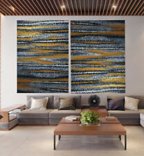 Pinnacles Gold  Modern abstract Painting landscape art Australia COA Aboriginal