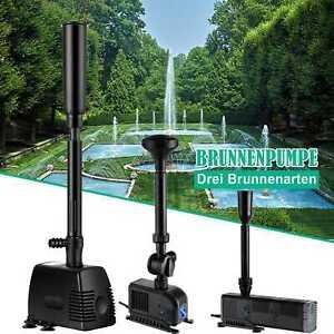 Teichpumpe Springbrunnen pumpe Wasserspiel Fontäne Gartenpumpe 800-3000L/H