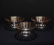 Set of 3 - Mid Century Modern Greta Lippe Condiment Bowls W/ Gold Circles MCM