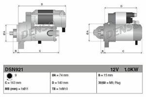 Denso Anlasser Für Ein Toyota Avensis Fließheck 1.8