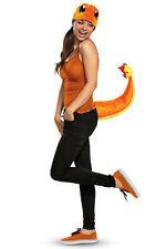 Charmander Adult Costume Accessory Kit NEW Pokemon Headpiece Tail One Size