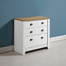 Ludlow 2+2 drawer chest of drawers bedroom storage wood white oak