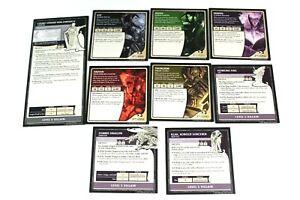 Dungeons & Dragons Castle Ravenloft Board Game (9) Hero Villain Tiles Tile Set