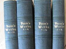 RARE 1850 BOOK SET BYRON'S SÄMMTLICHE WERKE , ADOLF BÖTTGER