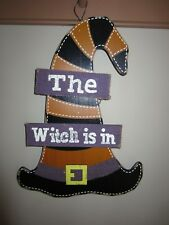 The WITCH is IN Wooden Wall Plaque Sign Wiccan Pagan Halloween Decor Wood Rustic