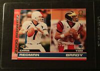 2000 TOM BRADY PACIFIC OMEGA ROOKIE RC with REDMAN  SN 412/500 -RAW CARD!